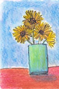 Watercolor doodle ATC. 2016 Sheila Delgado