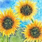 Day 8. 6 x 6 watercolor on yupo. © 2015 Sheila Delgado