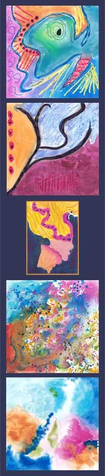 Soul Art 2016, watercolor, oil pastel on Yupo.