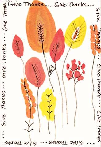 Give Thanks, postcard. Michelle Rembert. Global Art Swap November 2017