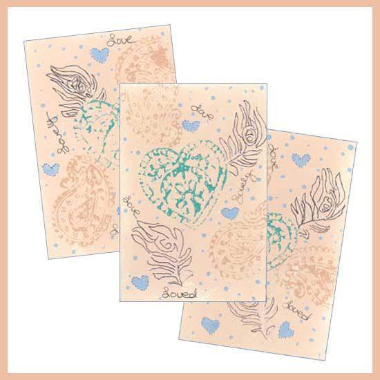 heART Postcards. 4 x 6 mixed media on Arches 140 lb. cold pressed paper. © 2018 Sheila Delgado.