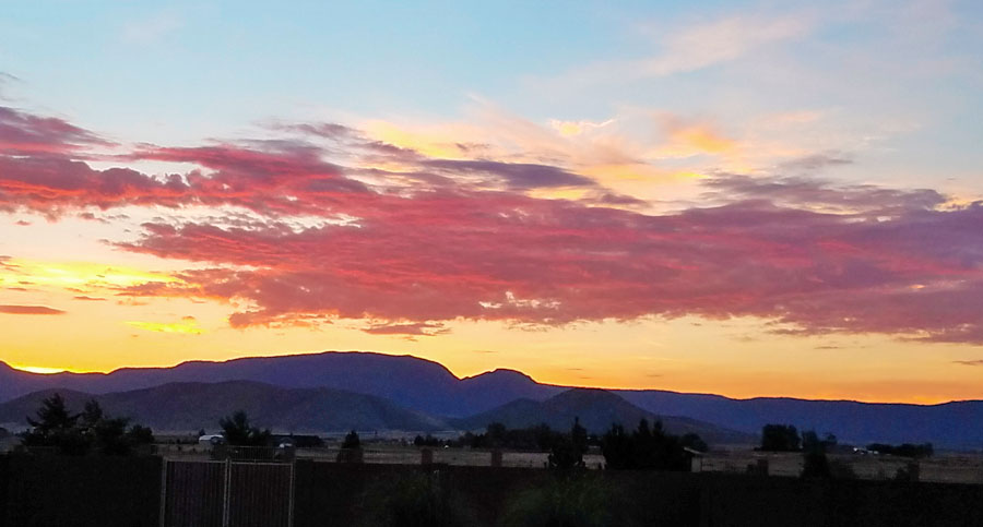 Mingus sunrise 7-23-18. SMD