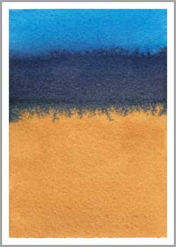 #1 Take Two. 2.5 x 3.5 in. watercolor on Arches 140 lb. cold pressed paper. © 2018 Sheila Delgado.